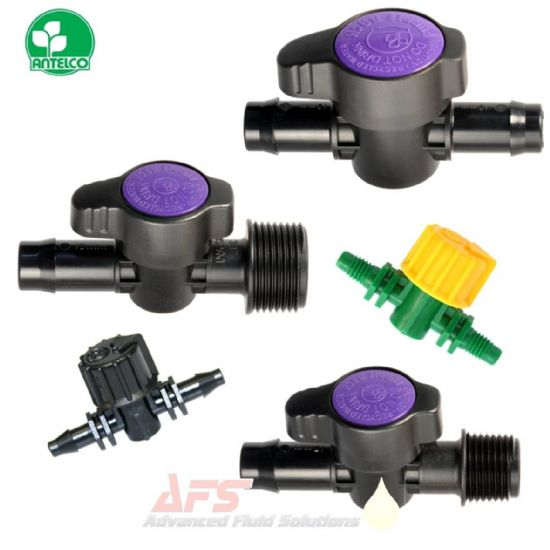 Straight Valve Hose Joiners (PP) Polypropylene Plastic Fittings Purple Back